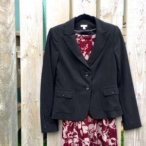 Black subtle stripe Semantiks blazer 4